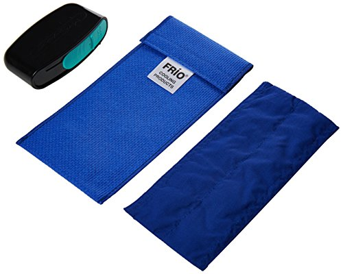 FRIO DUO BLAU INSULIN Reisetasche mit MySharps Taschenbehälter für gebrauchte Nadeln