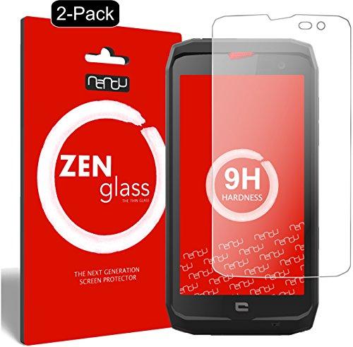 nandu I ZenGlass [2 Stück] Flexible Glas-Folie für Crosscall Action X3 Panzerfolie I Bildschirm-Schutzfolie 9H