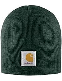0f25f671a79 Carhartt Acrylic Knit Beanie - Dark Green CHA205DGR Mens Winter Beanie Wool  Hat CHA205DGR
