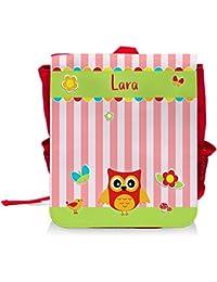 Preisvergleich für Kinder-Rucksack mit Namen Lara und schönem Eulen-Motiv für Mädchen