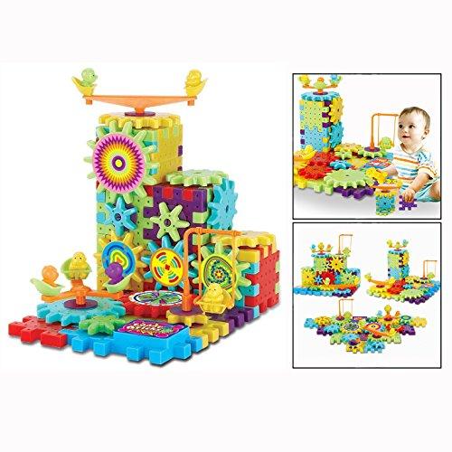 OFKPO Kreatives Zahnrad Spielzeug,Konstruktionsspielzeug mit Elektrische Rotary Gear,pädagogisches Spielzeug für - Zahnrad-puzzle