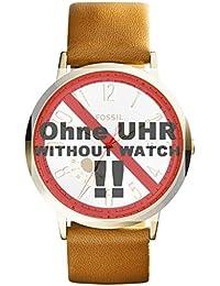 Fossil Uhrband Wechselarmband LB-ES3750 Original Ersatzband ES 3750 Uhrenarmband Leder 20 mm Braun