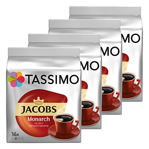 Tassimo Monarch, Verwöhnaroma, Kaffee, Kaffeekapsel, gemahlener Röstkaffee, 64 T-Discs / Portionen