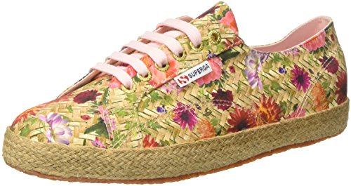 Superga 2750 Fabricfanplropew, Baskets Femme, Mehrfarbig (Weaving Natural Pink)