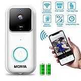 Smart Video Doorbell, Monja FHD 1080P Wireless Security 170°Wide Angle Wifi Doorbell, PIR