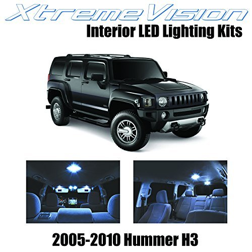 xtremevision-hummer-h3-2005-2010-15-pieces-cool-white-premium-interior-led-kit-package-installation-