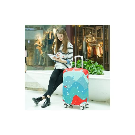 Generic Rvs Newly Designed Suitcase Protector Luggage Trolley Bag Cover-Medium-Color7
