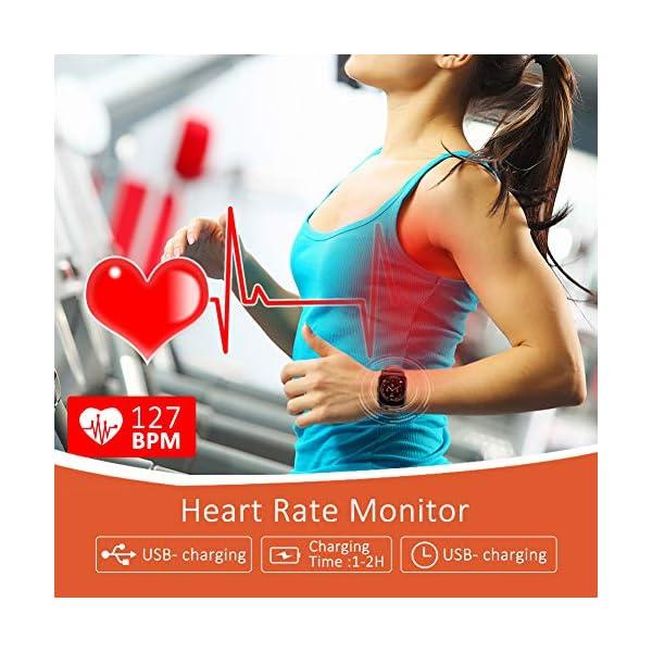 BYTTRON Smart Watch Fitness Tracker, Bluetooth Smartwatch IP68 a Prueba de Agua con Monitor de sueño de frecuencia… 6