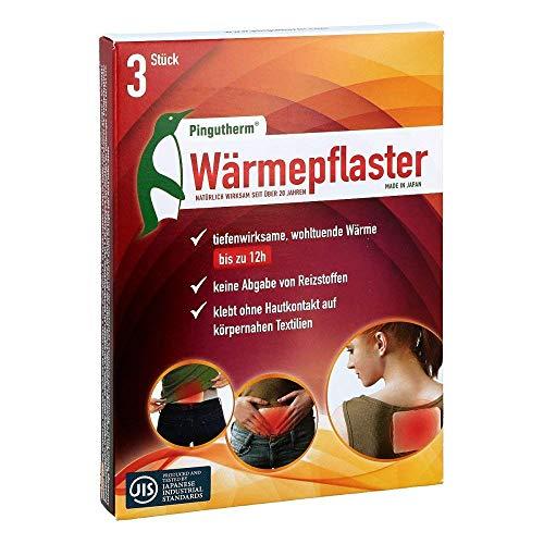 PINGUTHERM Wärmepflaster 3 Stück, Premium Schmerzpflaster Made in Japan, Flexibles Wärmepad für Rücken, Bauch, Schulter - bis zu 12h angenehme Wärme ohne Hautkontakt