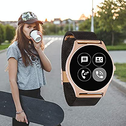 Joli XW Pro | Smart Watch Mujer iOS – Smart Watch iPhone – Fitness Reloj para Mujer – Smartwatch Android con Whatsapp Info