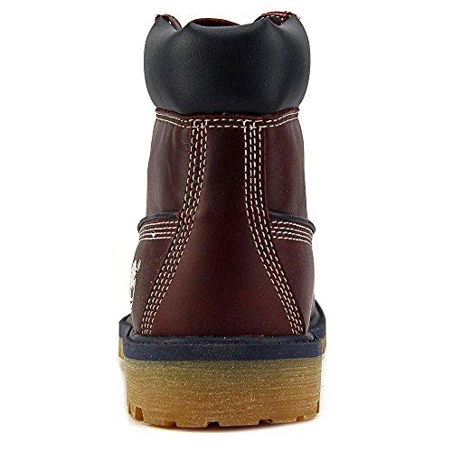 """Timberland 6"""" Basic Waterproof Rund Leder Stiefel Burgundy"""