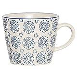 IB Laursen - Tasse - Henkelbecher - Casablanca - Blau Höhe 8 cm Ø 9,5 cm