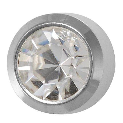Studex Piercing da orecchio mini color argento Acciaio inossidabile Birthstone Orecchini cristallo castone-Aprile/2mm