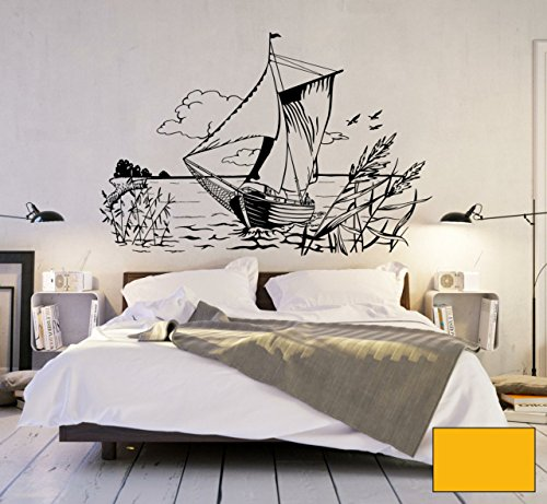 graz-design-adhesivo-decorativo-para-pared-zeese-zeese-barco-barco-segler-costa-mar-m1451-determinad
