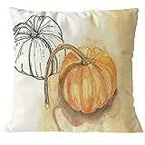 Harpily Kissenbezug Hevoiok Happy Halloween Muster Kissenüberzug Blumen Drucken Sofakissen Abdeckungs Bett Kissenhülle 45 x 45 cm
