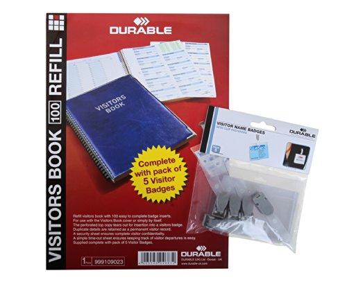 Durable - Recambio de etiquetas para libros de visita (5 unidades, varios colores)