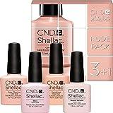 CND Shellac Farben Set - NUDE PACK - 4 Farben zum Preis von 3