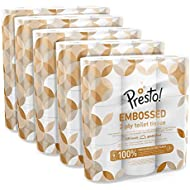 Amazon Brand - Presto! 2-Ply Embossed Toilet Tissues,45 Rolls (5 x 9 x 200 sheets)
