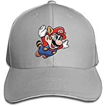 huseki hotgirl4Adult Flying Super Mario Bros Adjustable Gorra de béisbol Black Ash