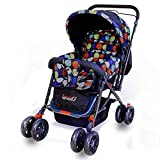 #1: GetBest Snuggle Baby Stroller cum Pram with Multiple Reclining, Blue