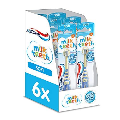 Aquafresh Milchzähne Weiche Borsten Zahnbürste für 0-2Jahre, 6Stück (Aquafresh Kids)