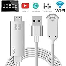 Wireless Display Adapter, goxmgo WiFi Dongle inalámbrico HDMI 1080p HDTV Adaptador, soporte DLNA y Miracast & Airplay duplicación de la pantalla para iOS Android Smartphones wiondows MacOS portátiles S8 plus