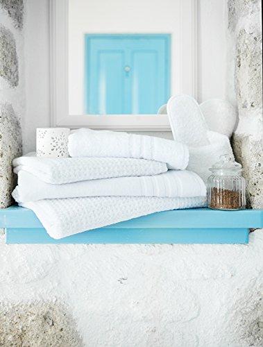 Ägyptische Baumwolle Stück 3hotel Hochwertiger Bad Blatt weiß 100x 150cm (Ägyptische Bad Blatt)