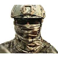 Aiyuda multiuso combattimento tattico militare mimetico asciugatura rapida cappello sciarpa scaldacollo Wrap per Uomo e (Womens Hard Cap)