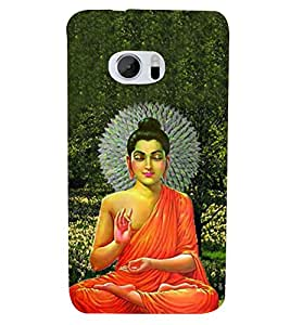 ifasho Designer Back Case Cover for HTC 10 :: HTC One M10 (Budha Lord Siddharth Budha Musical Instrument Buddha Oil Diffuser Buddha Paintings Living Room)