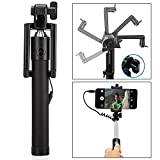 #6: Arisidh Premium Quality Compatible Pocket Size Black Selfie Stick With AUX Cable Monopod 78 Cm for Apple Samsung HTC Lenovo One plus Motorola Nexus Xiaomi Redmi Phones Coolpad Notes Iphone and Other Android Phones.
