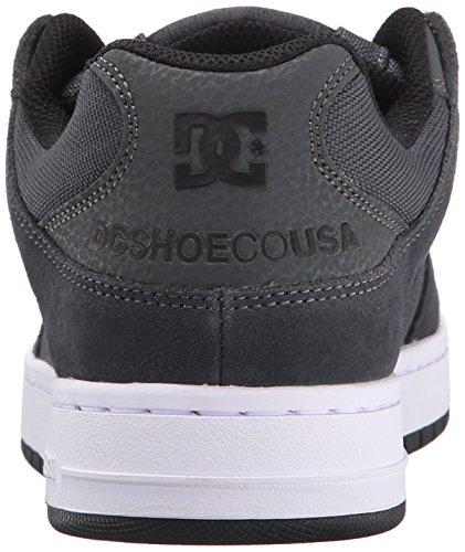 DC Men's Manteca Skate Shoe, Black/Black/Gum, 5 M US Grey/Grey/Black