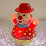 #10: Akhand Non Toxic Musical Songs and Lights Roly Poly Clown Joker Educational Tumbler Toy