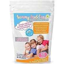 Probióticos en Polvo para Niños – Suministro Para 15 Días - Tummy Buddies - Mil millones de Bacterias Beneficiosas por Sobre - Fórmula Avanzada con Múltiples Cepas Probióticas Incluyendo Acidophilus y Bifidobacterium Infantis - Apto para Bebés Recién Nacidos, Bebés y Niños de hasta 12 años de edad. Sin Azúcar ni Aditivos - Fabricado en el Reino Unido