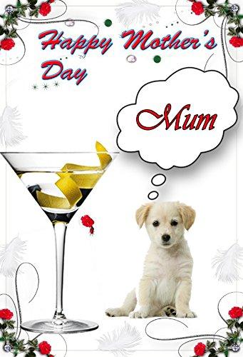 (Labrador Retriever Puppy Dog nmd180lustig Niedlich Glücklich Muttertag, personalisierbar mit)