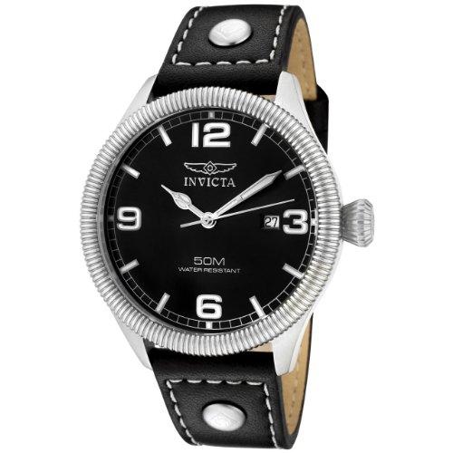 Invicta Herren-Armbanduhr XL Analog Leder 1460