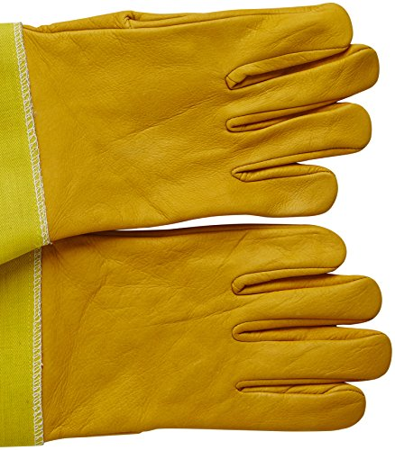 Natural Apiary® BEEKEEPING GLOVES - COWHIDE - STING PROOF CUFFS - MEDIUM - Soft & Durable Leather - Long Thick Sleeves 4
