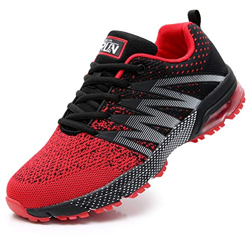 Axcone Damen Herren Sneaker Laufschuhe Air Sportschuhe Kletterschuhe Turnschuhe Running Fitness Sneaker Outdoors Straßenlaufschuhe Sports 8995 RD 44EU