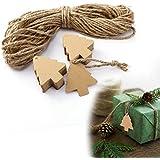 CLE DE TOUS - 100pcs Etiquetas Árboles de Navidad para regalo colocar Arbol Navidad Navideña