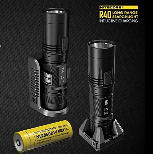 520 Usb (Nitecore R40 Suchleuchte mit induktiver Aufladung, 520 m, mit USB-Ladeanschluss, 5000 mAh, wiederaufladbarer Batterie)