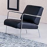 Butaca de espera tapizada modelo LOBBY color negro - Sedutahome