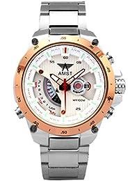 Reloj de acero inoxidable de la manera del deporte militar AMST Relojes Hombres