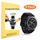 #5: 3 PACK Samsung Gear S3 Screen Protector Asstar Tempered Glass Screen Protector Crystal Clear Anti-Scratch 9H Hardness 2.5D Tempered Glass Bubble-Free Anti-Scratch for Gear S3