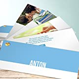 Babykarten Set, Sweety 200 Karten, Kartenfächer 210x80 inkl. weiße Umschläge, Blau