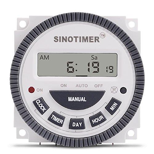Inovey 110V 220V TM619 4PINS 16AMP Digital Timer 7 Tage programmierbare Zeitschalt Relais - 110v (7 Tage Programmierbare Timer)