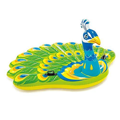Riesen Pfau Pool schwimmt - Pool Lounger Schlauchboot Fahrt auf, Blow Up Pool Floaties für Erwachsene & Kinder Sommer Party Dekorationen Spielzeug (Blow-up-pool-lounger)