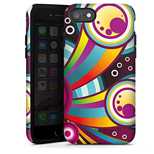 Apple iPhone X Silikon Hülle Case Schutzhülle Kreise Comic Bunt Tough Case glänzend