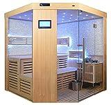 Saunakabine Sauna komplett Saunen Massivholz Traditionelle Sauna Video-Sauna AGNETHA 180