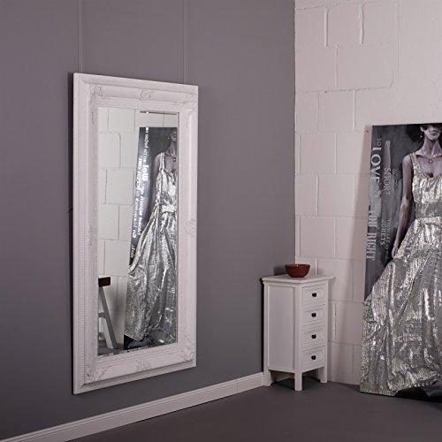 SCHICKER BAROCK SPIEGEL 'CLARA' Wandspiegel 87 x 147 cm antiker Facettenspiegel jugendstil