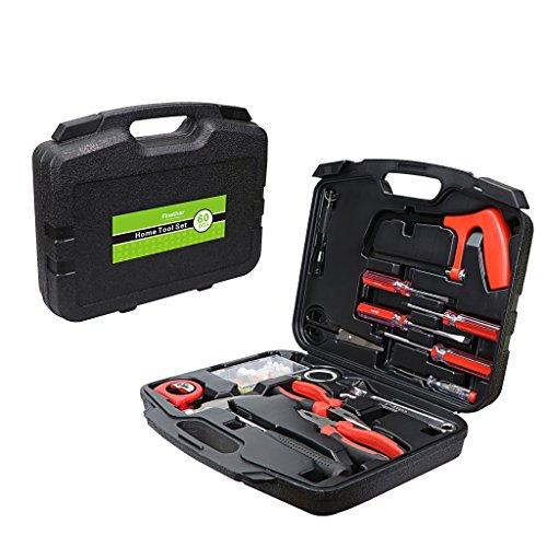 Preisvergleich Produktbild Finether 60-teilig Haushalts-Werkzeugkoffer Werkzeug-Set Handwerkzeug-Set Präzisions-Kit für die Gartenarbeit Elektriker | Handwerkzeuge steckschlüsselsatz Schraubenzieher mit werkzeugbox