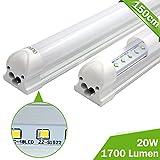OUBO 150cm LED Leuchtstoffröhre komplett Set mit Fassung Neutralweiss 4000K 23W 2100lm Lichtleiste T8 Tube mit milchiger Deck